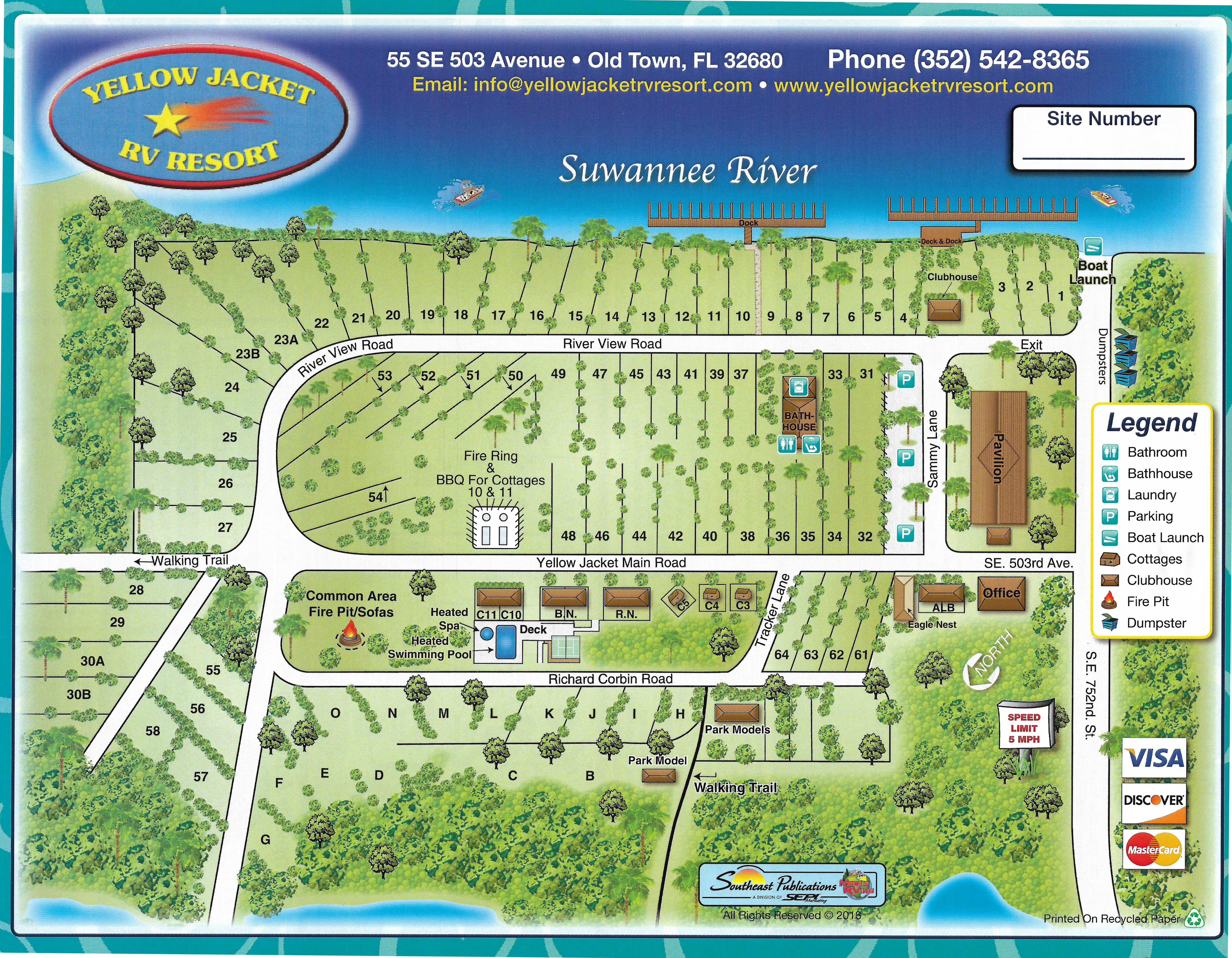 Site Map Yellow Jacket Rv Resort